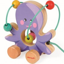 Wooden Looping Pull Toy, Octopus