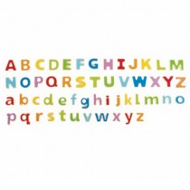 Wooden Magnetic Alphabet Letters (52 pcs)