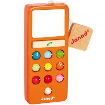 Wooden Mobile Phone, Orange