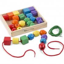 Wooden Primary Lacing Beads