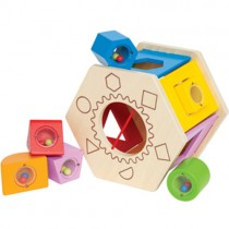 Wooden Shake and Match Shape Sorter