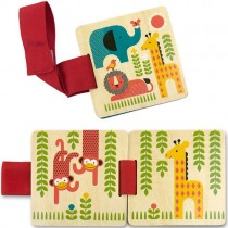 Wooden Stroller Book, Safari