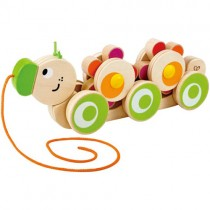 Wooden Walk-A-Long Caterpillar