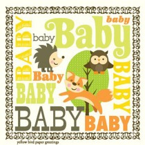 Enclosure Card by Yellow Bird, Woodland Baby
