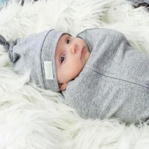 Woombie Baby Swaddler, Heather Grey (hat not included)