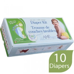 AMP One-Size Cloth Diaper Kit, Hemp