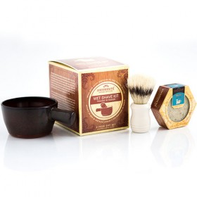 Handcrafted Shaving Scuttle Gift Set