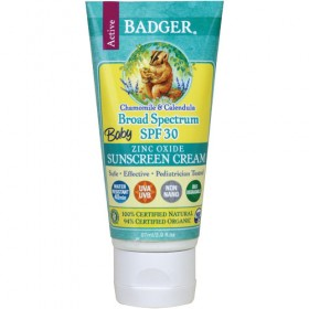 Badger Baby Sunscreen Active Cream, SPF 30