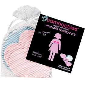 Bamboobies Reusable Breastfeeding Pads Complete Set (4 Pairs)