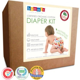 Complete Cloth Diapering Kit, ORGANIC Prefolds