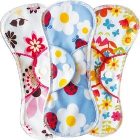 Bummis Fabulous Flo Menstrual Pad, Regular (3pk)