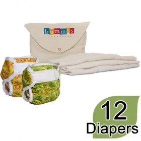 Newborn Cloth Diaper Package, Prefolds