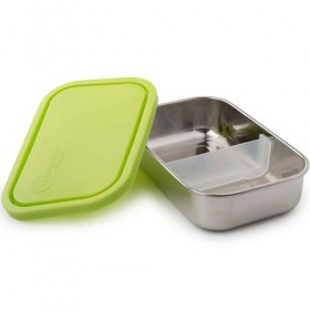Kids Konserve Stainless Steel Leak Proof Food Container, Medium (Lime)