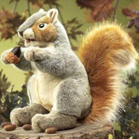 Gray Squirrel Puppet