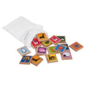 Wooden Memory Game, Animals