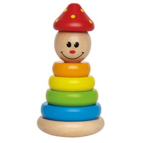 Clown Wooden Stacker Toy