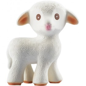 Mia the Lamb 100% Natural Rubber Toy