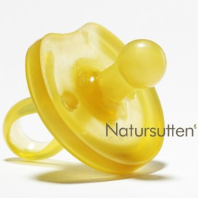 Natural Rubber Natursutten Pacifier, Rounded