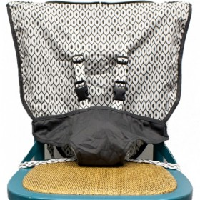 Portable High Chair Travel Seat, Slate Grey