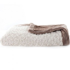 Saranoni Receiving Blanket, Ivory/Gingersnap