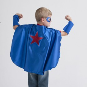 Superhero Cape, Blue with Red Star