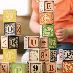 Classic Wooden Blocks, Alphabet (28pc)